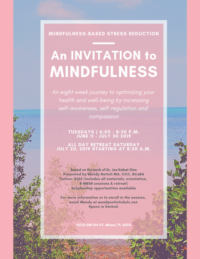 Mindfulness Based Stress reduction class miami
